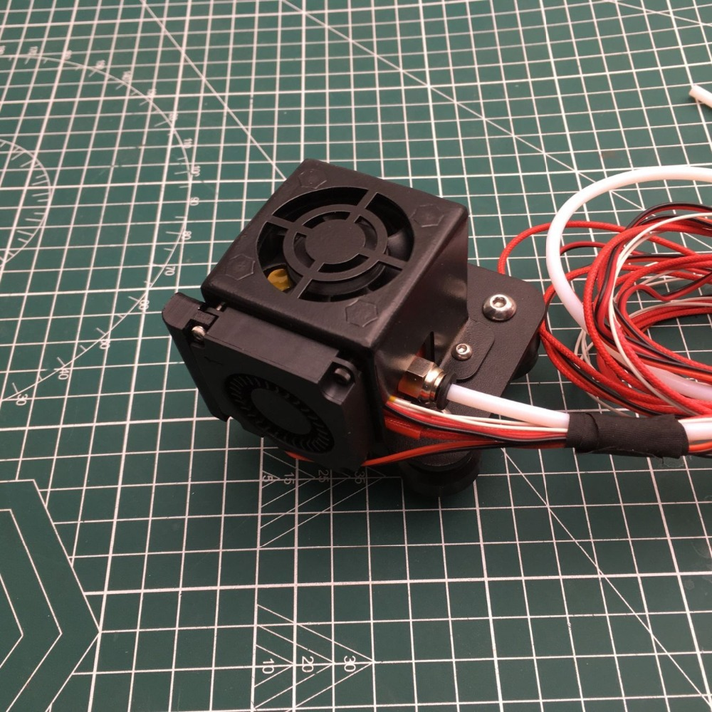 CR-10/Ender Full Assembled Extruder x carriage  Kits With metal Fan duct Cover hotend Kits for CR-10 Series 3D Printer PartsCR-10/Ender Full Assembled Extruder x carriage  Kits With metal Fan duct Cover hotend Kits for CR-10 Series 3D Printer Parts