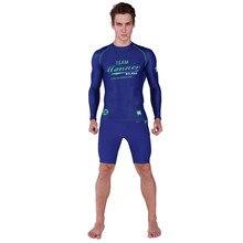 Long sleeves swimwear rashguard surf clothing diving suits shirt swim suit spearfishing kitesurf men rash guard NY017