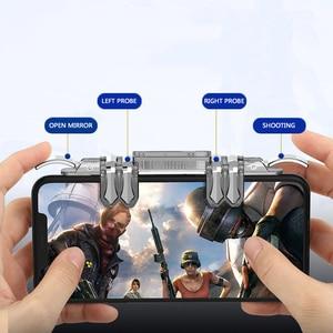 Image 3 - One piece 6 doigt Pubg Mobile contrôleur de jeu téléphone manette de jeu gachette L1 R1 visée/tireur bouton Joystick pour IPhone Android