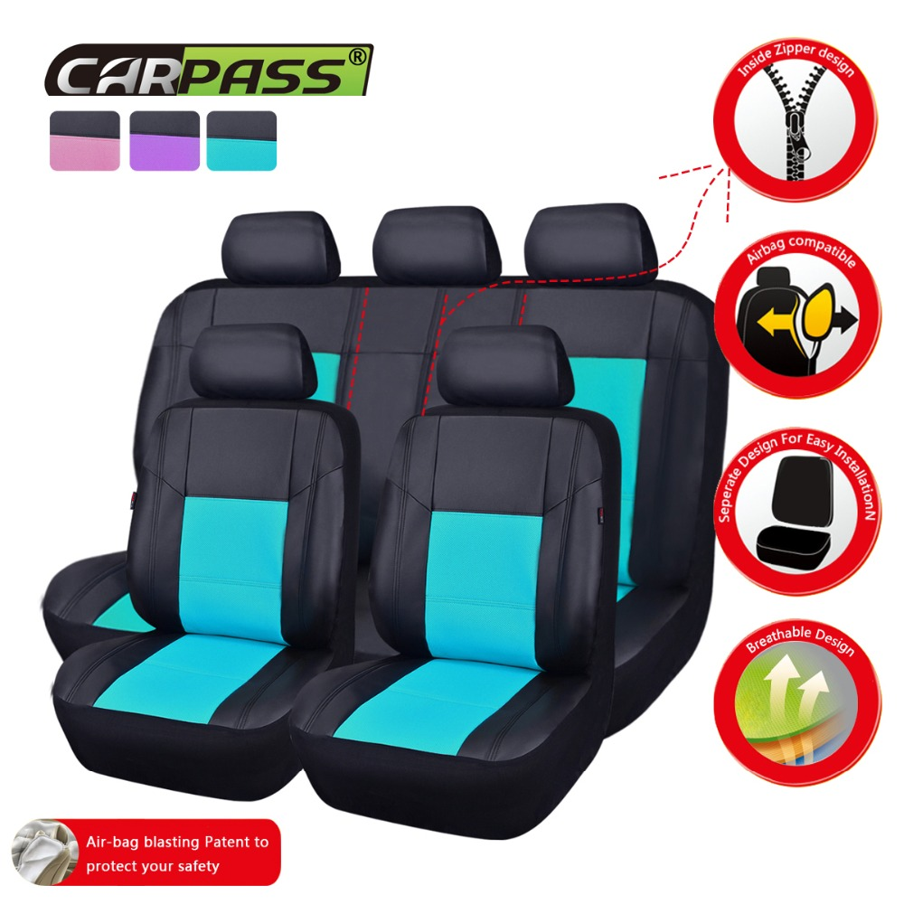Surprising Us 19 6 51 Off Car Pass Universal Car Seat Cover Side Airbag Compatible Pu Leather Car Styling Interior Accessories Vehicle Seat Covers 7 Color In Unemploymentrelief Wooden Chair Designs For Living Room Unemploymentrelieforg