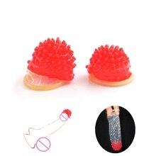 Adult Sensitive Orgasm Thorn Spike Clit Pussy Stimulate Vaginal Delay Penis Sleeve Sex Toys for Men Random Color 5PCS/LOT