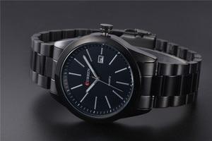 Image 3 - CURREN New Fashion Men Watches Full Steel Wristwatch Classic Business Male Clock Casual Military Quartz Calendar Watch Reloj