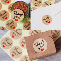 120x Thank You Stickers Labels Sealing Craft Wedding Favours Letters Card Gifts