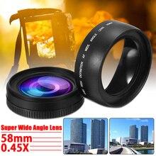 3 шт. 58 мм 0.45X Широкоугольный объектив для Canon EOS 1000D 1100D 500D Rebel T1i T2i для T3i L3EF аксессуары для объектива камеры