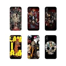 Para Xiaomi mi 4 mi 5 mi 5S mi 6 mi A1 A2 5X 6X 8 9 Lite SE Pro mi Max MIX 2 3 2S película de Horror de iconos de Flexible de la cáscara del teléfono móvil del caso