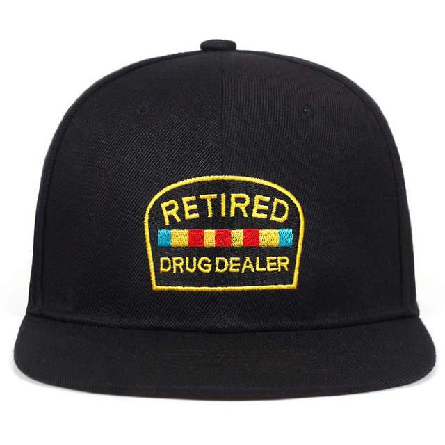 2018 new Retired Drug Dealer baseball cap Black red Streetwear Adjustable Snapback Hats men women hip hop Caps hats garros