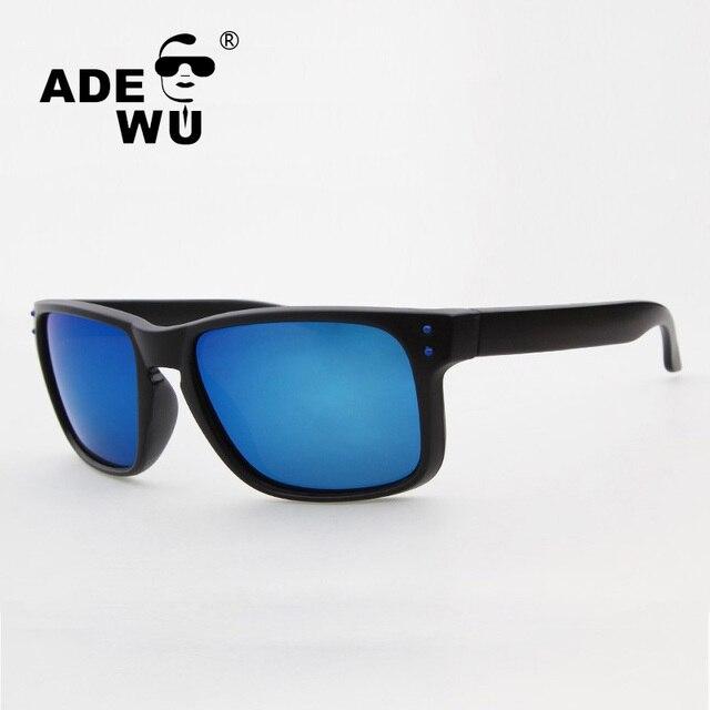 1d32cb6749ec8 ADE WU Top Qualidade óculos de Sol Marca De Luxo Polarizada Espelho Óculos  de Sol Para