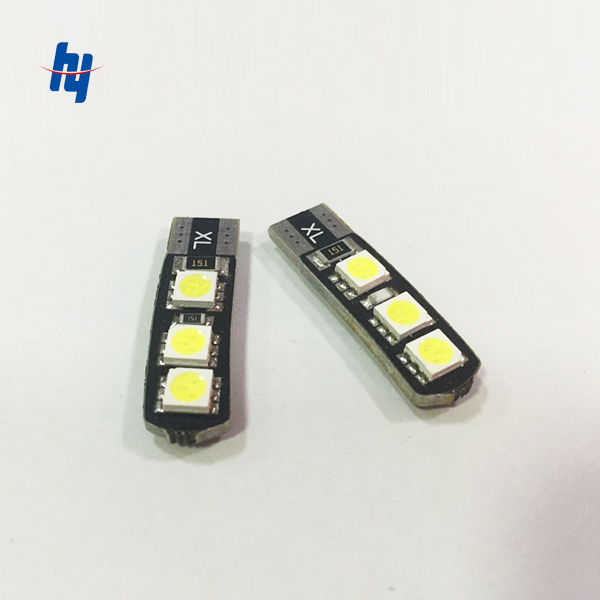 <font><b>100pcs</b></font> <font><b>T10</b></font> 6SMD 5050 <font><b>CANBUS</b></font> W5W 6LED DC12V NO WARNING Error Free Car Side Wedge Light Lamp Bulb image