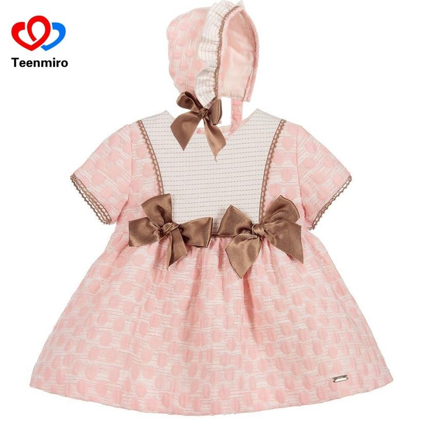 Spain Children s Clothes for Girls Tutu Dress New Summer Pure Cotton Tunic Dresses PP Pant