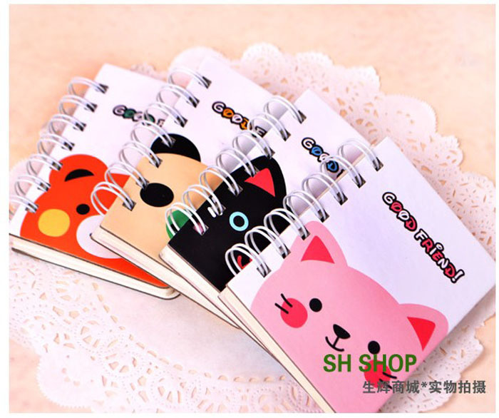 Cute Cartoon Bear Coil Notebook School Kids Exercise Book