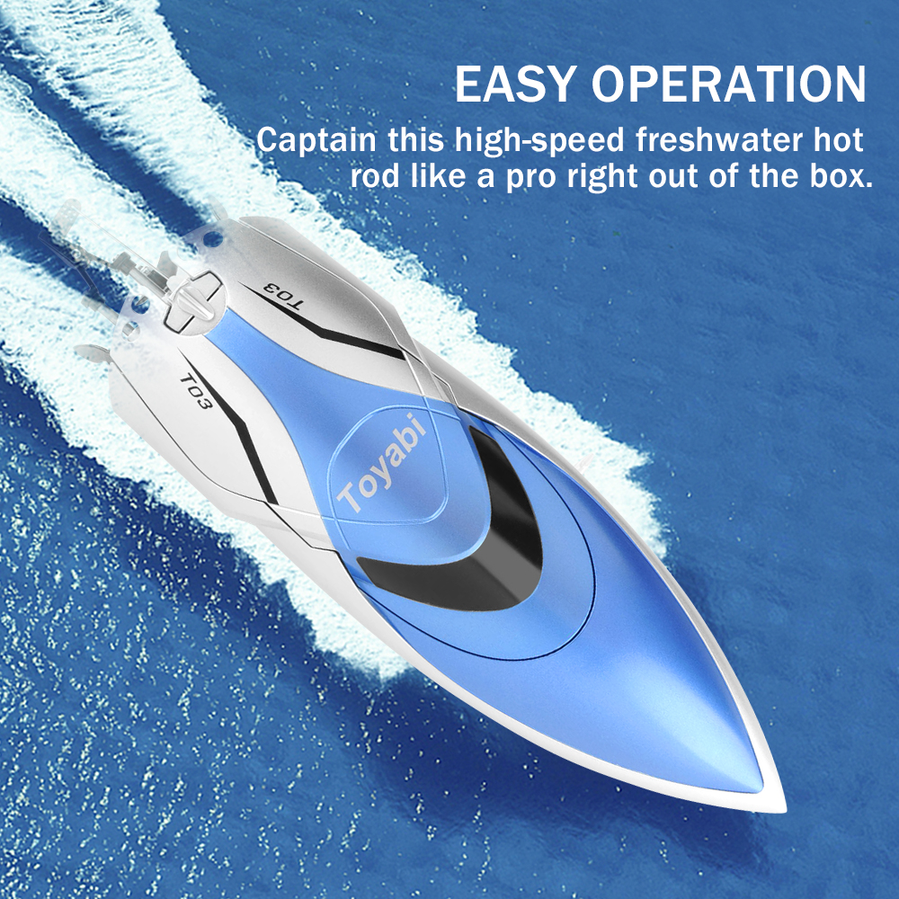 GizmoVine High Speed RC Boat Remote control Toys 4 Channels 2.4G High Speed RC Toy for Kids with LCD Screen toys for children