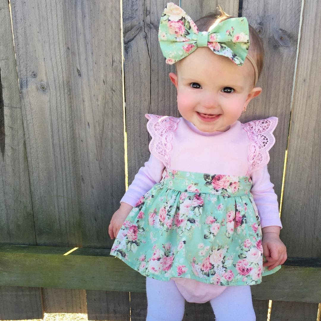 ddc3a4837 Super Cute 3 Styles Baby girl Floral Pink Bodysuits with Skirt Babies Girl  Halter Flower Summer