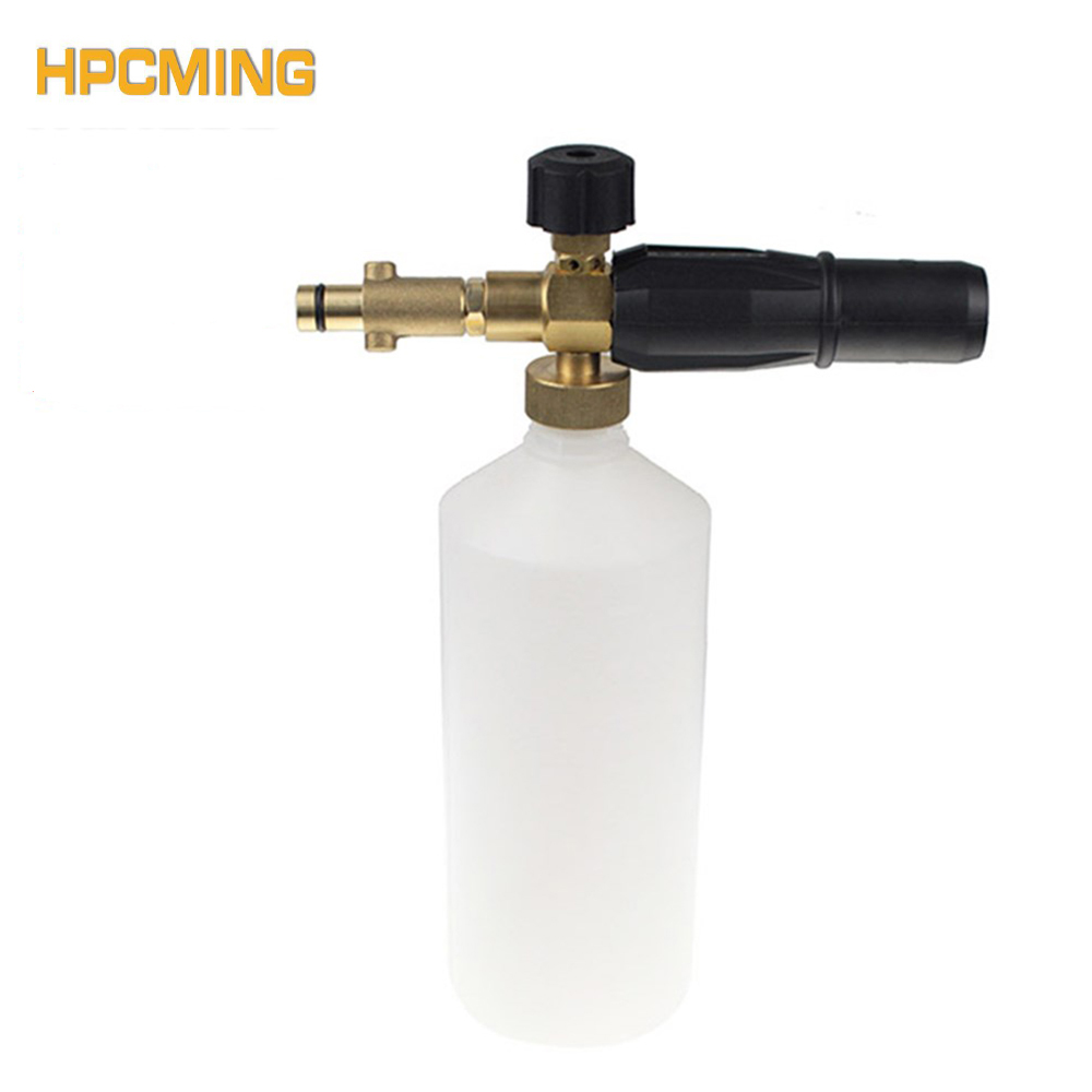 2018 Limited New Arrival Gs Generator Foam Nozzle High Pressure Gun For Nilfisk Or For Stihlep Washer Car (cw030) roue gs high quality pressure washer adapter for nozzle foam generator gun soap foamer for nilfisk kew alto