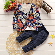 3PCS/1-4Years/Spring Autumn Gentleman Suit Shirt+Jackets+Trousers Baby Boys Clothes For Kids Childrens Clothing Sets
