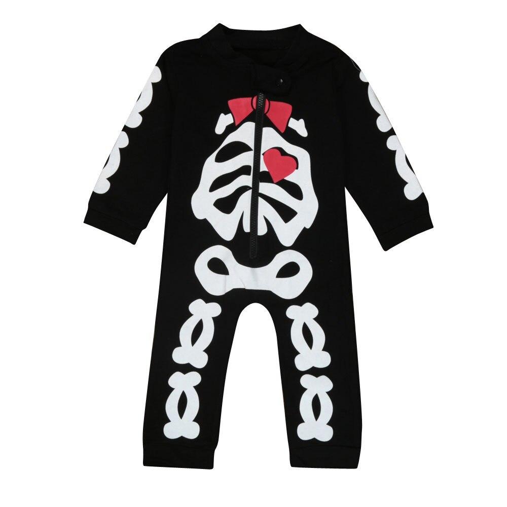 TELOTUNY bebé lindo ClothesNewborn niños bebé niña ropa esqueleto Romper Jumpsuit trajes oct octubre gota Z0827