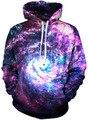 Outono inverno moda feminina galaxy impressão cat projeto bolso do casaco hoodies animal print águia 3d plus size pullovers