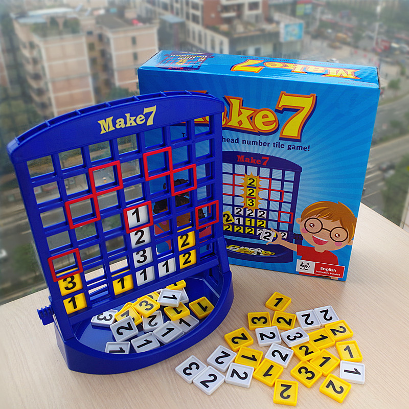 Portable Travel Kids Board Game Educational Math Toys Make 7 Fun Toy Puzzles For Children Christmas Birthday Gifts Family Games ...