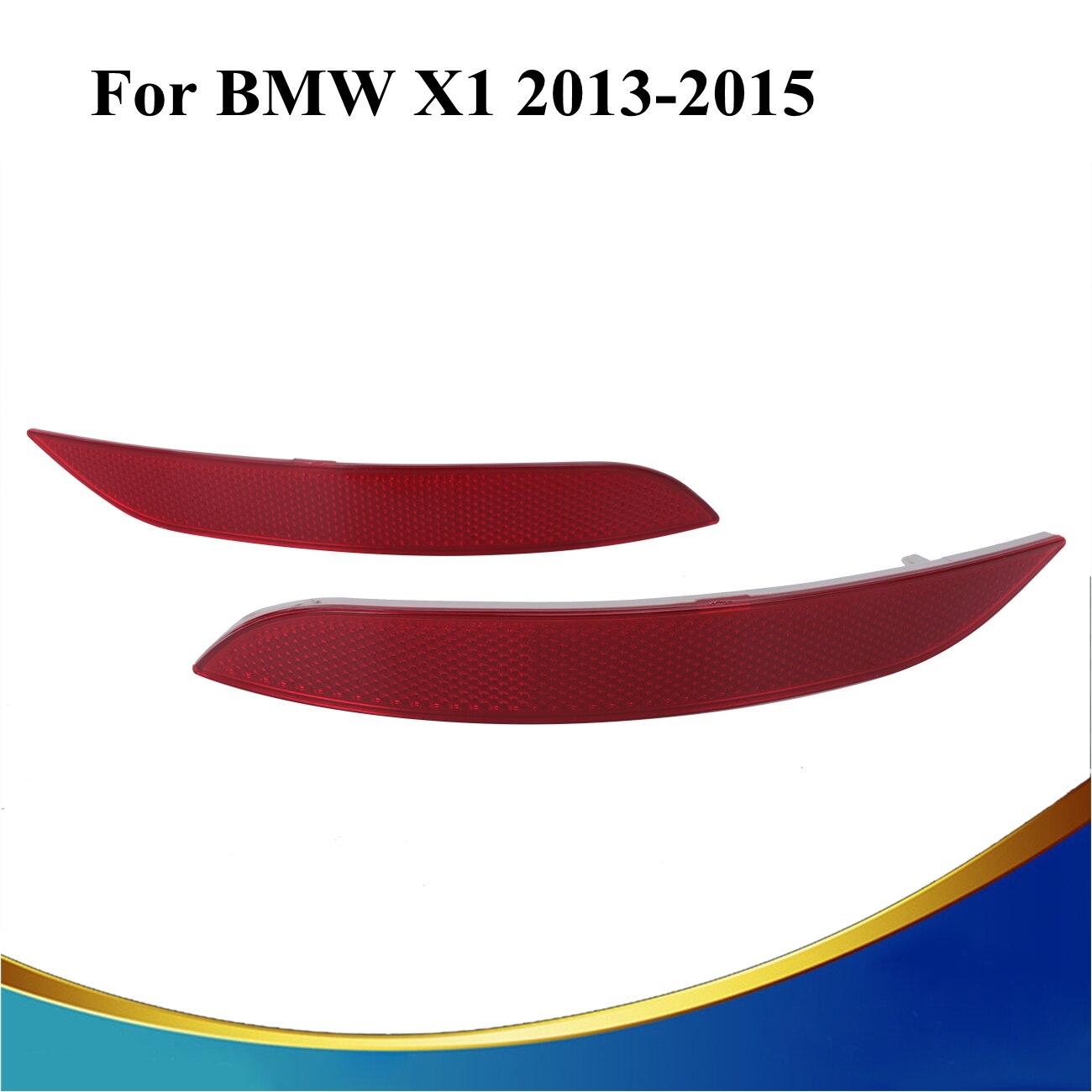 Left + Right Red Lens Rear Bumper Reflector Fog Warning Light For BMW E84 X1 2013 2014 2015 refletores para carros #3103 for jeep cherokee 2014 2016 red lens rear bumper reflector rear fog brake light