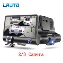 """LAUTO 4 """"Dual Lens Auto DVR Della Macchina Fotografica HD 1080 P Dell'automobile del Precipitare Cam Auto Portatile Videocamera vista posteriore di Visione Notturna del G -sensore Video Registratore"""