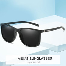 2019 New Classic Square Sunglasses Mens Brand Designer TR-90 Polarized Ultra Light Fashion Sun Glasses UV400
