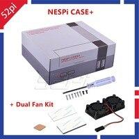 52Pi New Original NESPi Case Plus Retroflag With Dual Fan Cooling Heatsink For Raspberry Pi 3B