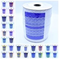 Wholesale 300Yards Roll 45MM Width Lace Ribbon DIY Decorative Lace Trim Fabric Wedding Birthday Decor Craft