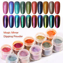 MANZILIN 10g/Bottle Magic Mirror Effect Dipping Powder Colorful Powders With Glitters Decoration Nail Dust NHDPB