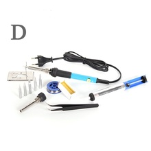110V / 220V 60W Temperature Adjustable Electric Soldering Iron Mini Handle Heat Pencil Solder Station With Iron Tips Stand Tool dgks 110v 220v 60w adjustable temperature with swith electric soldering iron welding solder station heat pencil with eu plug