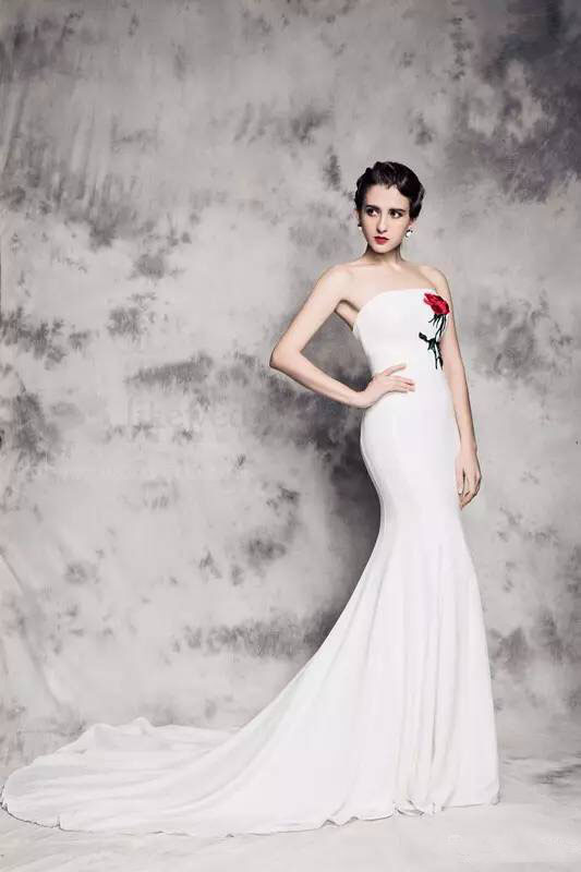 Elegant Popular Red Rose Wedding Dressesbuy Cheap With Dress White And