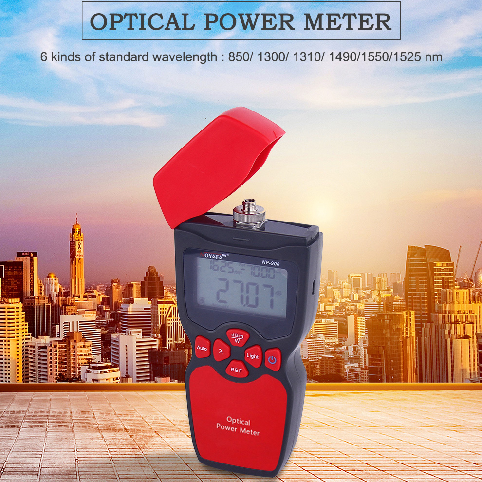 Optical power meter Measurement of the power of optical sender (dBm and W) Insertion loss test of optical devices NF-900 компрессор metabo power 250 10 w of 601544000