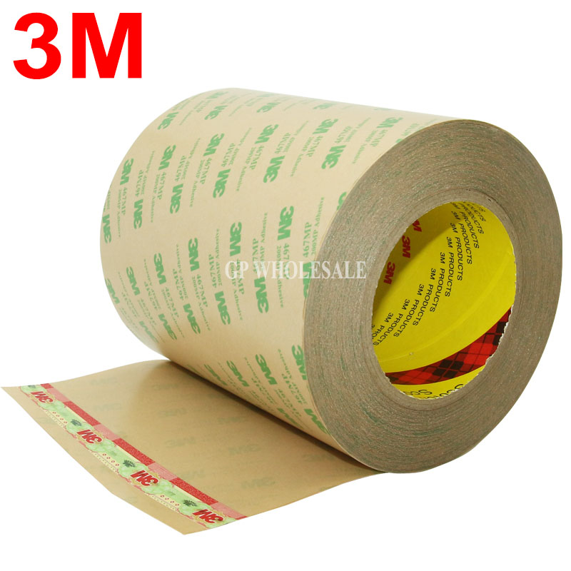 100mm*55M*0.06mm 3M 467MP 200MP Two Sides Adhesive Tape for Laptop Tablet, Mini Pad Flexible circuits, PCB Metal Plate, Switch 19mm 55m 0 13mm thick 3m clear pure laminiation glue tape for heat sink metal pcb plate switch laptop pcb plate cable
