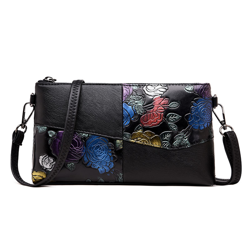 Day Clutches Hand Painted Flower Women messenger shoulder bag Leather luxury handbags women bags designer Mother clutch bag Sac moccen evening handbag ladies clutch bag luxury women handbags designer day clutches high quality purses hand bag shoulder bags