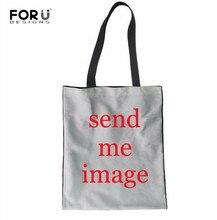 FORUDESIGNS Custom Simple Wild Canvas Bag Shoulder Tote Bags Foldable Reusable Bags Student Book Bag Women Large Canvas Handbag