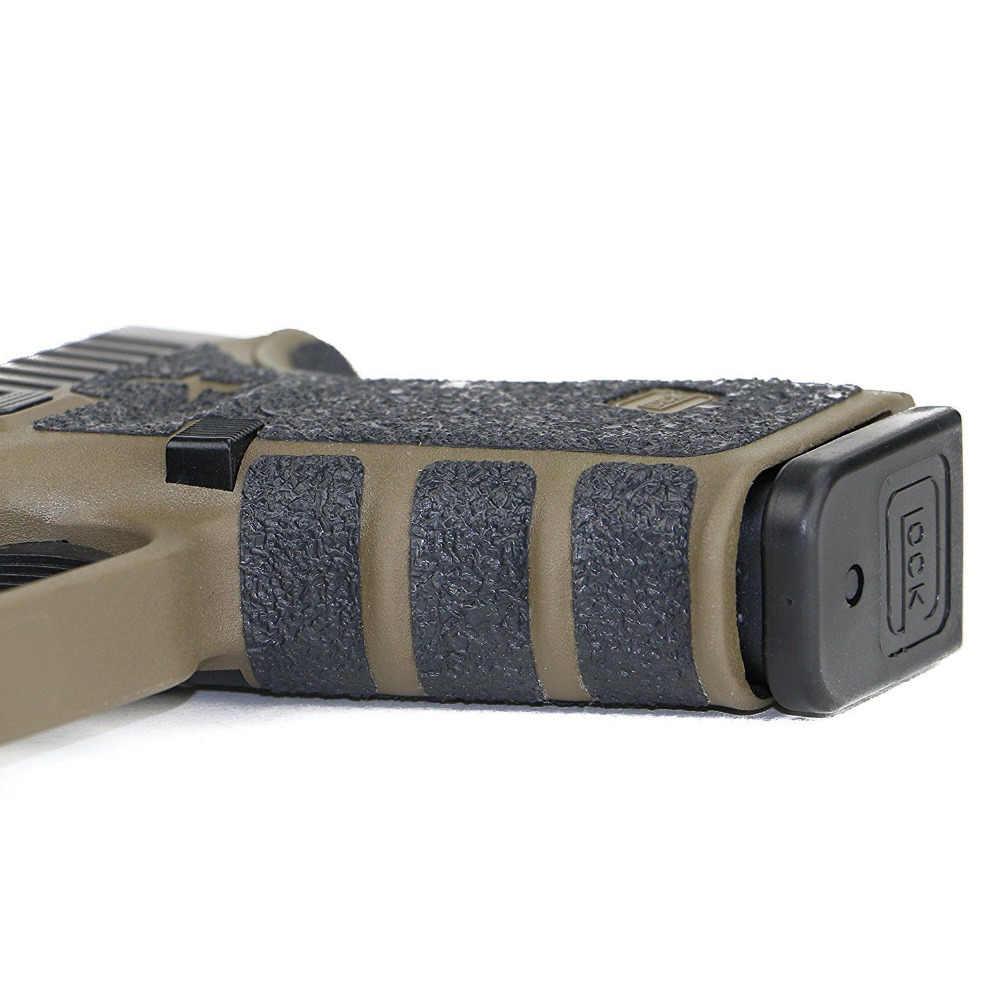 Нескользящая резиновая текстурированная перчатка с лентой для Glock 17 19 20 21 22 25 26 27 33 43 кобура 9 мм Пистолет Аксессуары для журналов