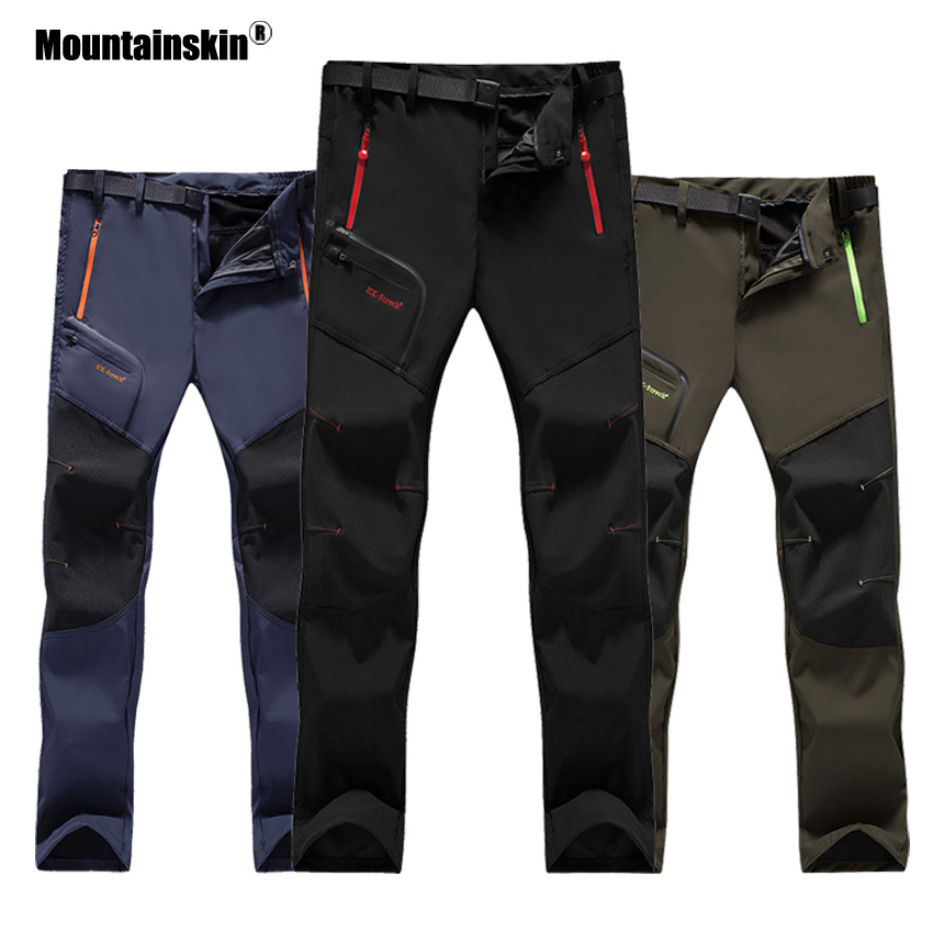 6XL Mountainskin Women Men's Waterproof Hiking Sports Pants Summer Quick Dry Breathable Outdoor Trekking Camping Trousers VA234 jacksanqi summer quick dry women pants spring female outdoor sports thin breathable pants hiking trekking camping trousers ra011