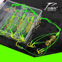 4PCS FDDL High Carbon Steel Fishing Hooks Ocean Boat Fishing Fluorescent Explosion Hooks for Fishing Accessories Tool Set Box