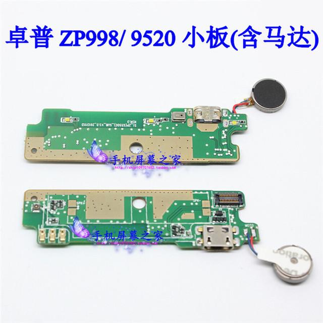 Zopo ZP998 Original del USB enchufe de carga a bordo del micrófono conector con vibrador motor para ZOPO 9520 Smartphone envío gratis