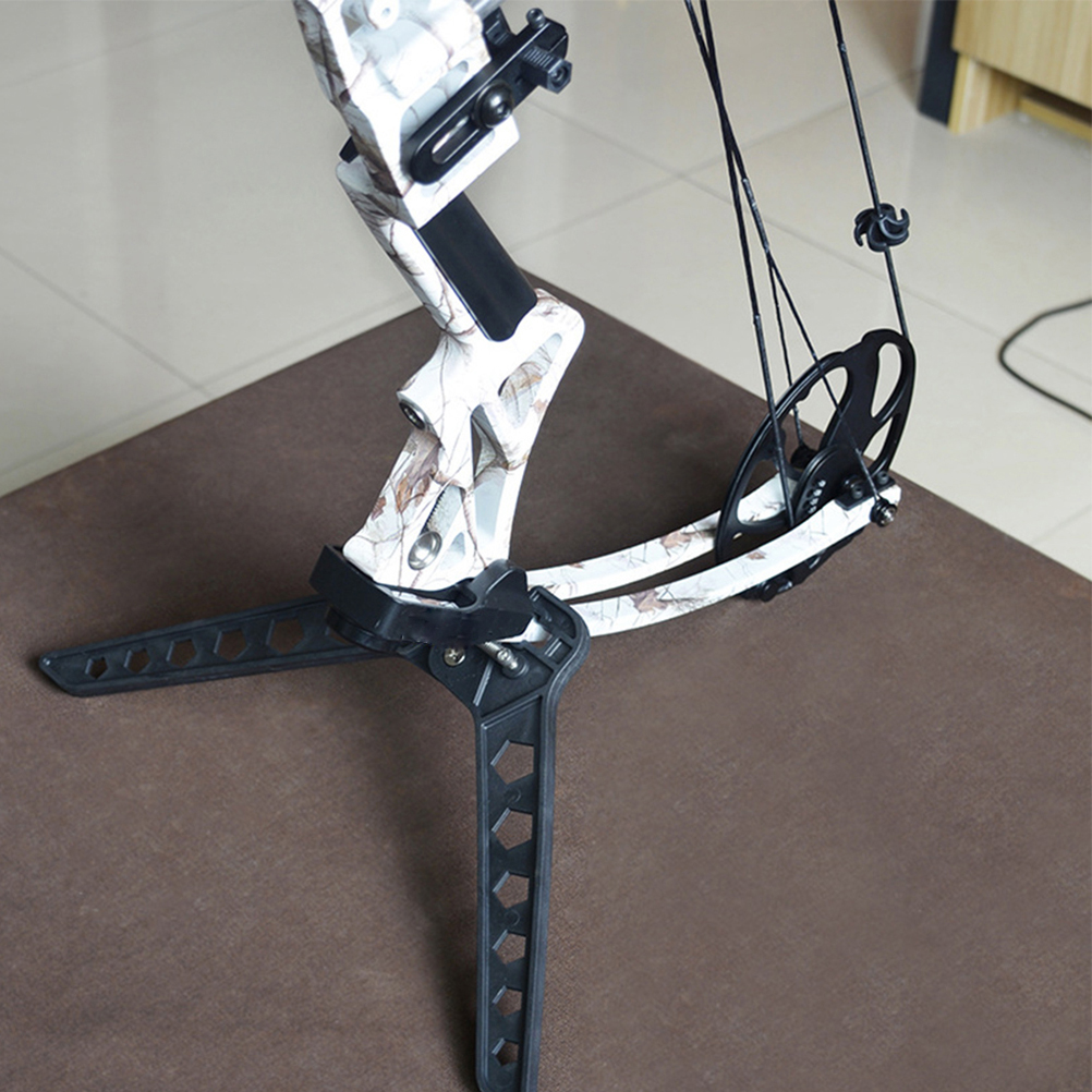 Archery Bow Kick Stand Holder for Recurve Compound Traditional Bow Black