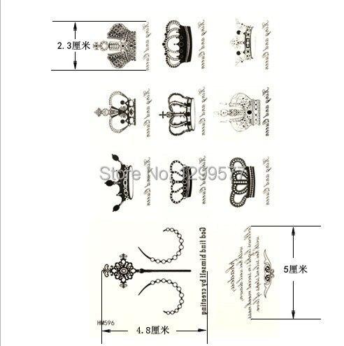 couronne mots anglais lettres tatouages temporaires épaule bas du
