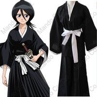 Anime BLEACH Kurosaki ichigo Kuchiki Rukia Cosplay Costumes Japanese kimono Kendo suit Halloween cosplay party outfit