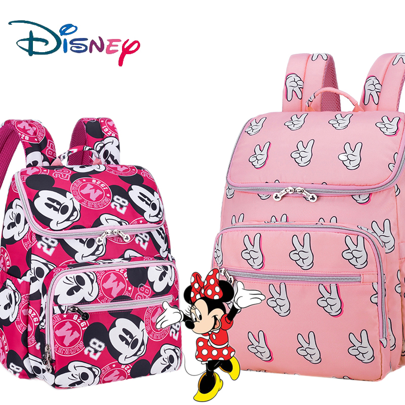 Disney Baby Care Changing Diaper Bag Mummy Maternity Nappy Bag Stroller Large Capacity Baby Travel Backpack Mommy Nursing Bag