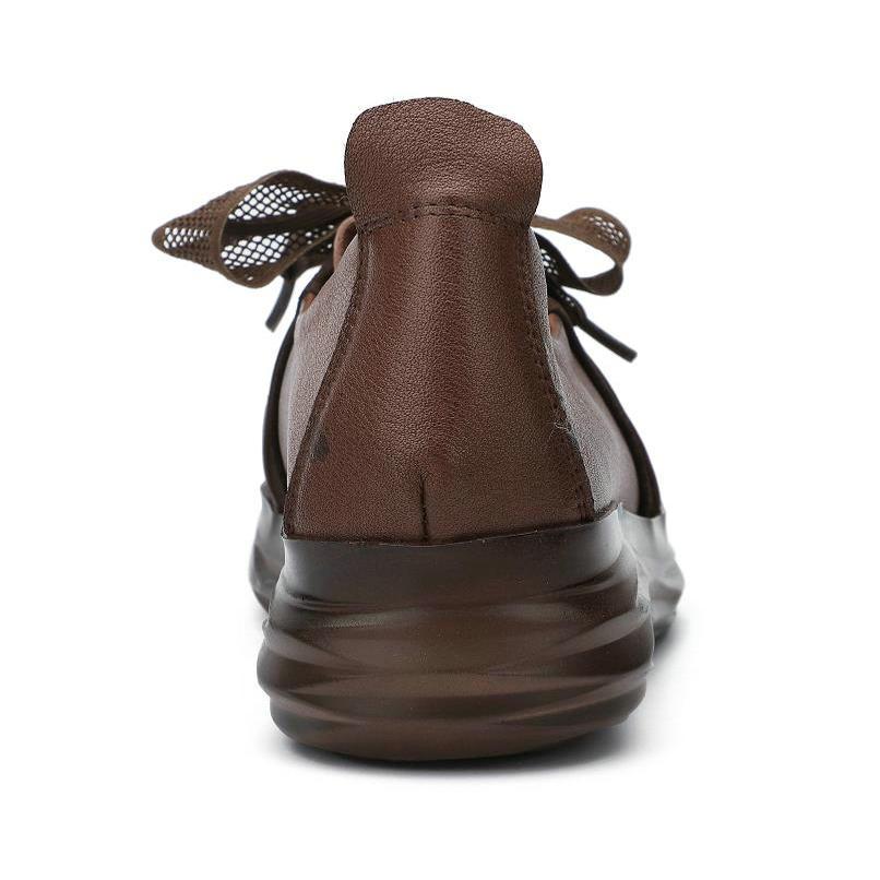 Deporte Cuero Retro Nuevo Cabeza Para De Verano Zapatos Mujeres Primavera 2019 Casuales Plataforma Redonda Plana Boca Coffee Genuino Zapatillas Mujer Baja vYtZEq1w