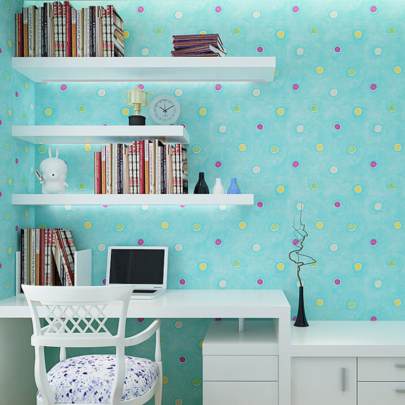 3D Wallpaper for Kids Room Wallpaper Designs Colorful Bubbles Wallpaper for Girls Room Non Woven Wallpapers Light Pink Sky Blue