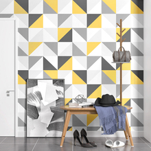 Nordic โมเดิร์นเรขาคณิต Lattice Square วอลล์เปเปอร์สำหรับผนังม้วน 3D ห้องนั่งเล่นห้องนอน TV พื้นหลัง Wall Decor ผนังกระดาษ