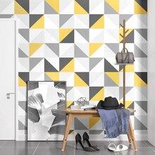 Papel de parede quadrado padrão geométrico, rolo 3d de papel de parede para paredes, sala de estar, quarto, tv, fundo de parede, decoração de casa