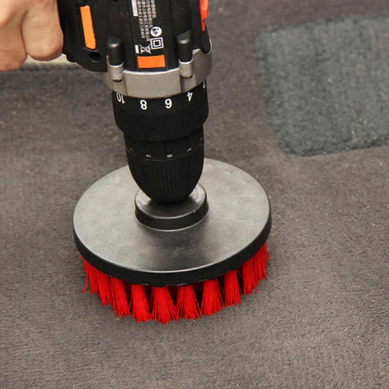 3pcs Power Scrubber Set di Pennelli Bagno Trapano Scrubber Spazzola per La Pulizia Cordless Trapano Kit di Fissaggio di Alimentazione Scrub Pennello Rosso