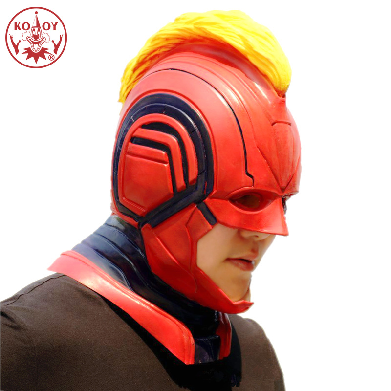 New Movie Captain Marvel cosplay mask  Halloween costume women female Silica Gel masks helmets for women men Party cosplay