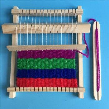 DIY Artesanal de Madeira Máquina Suéter De Tricô Máquina de costura Brinquedos Educativos blocos de Construção de Brinquedos para Crianças Presente