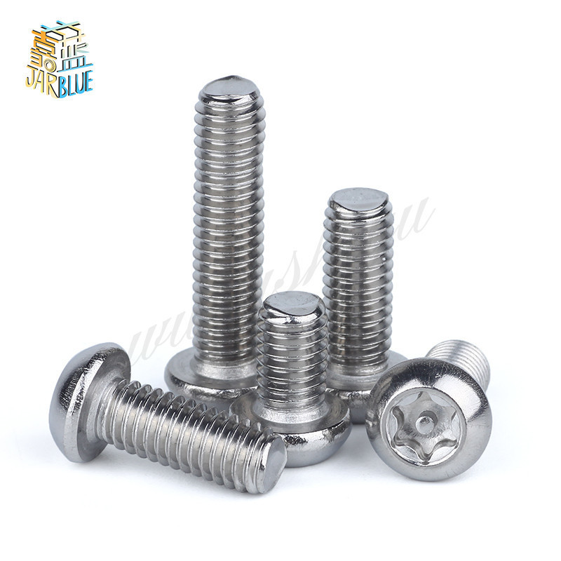 M4*6 M4x6 M4*8 M4x8 M4*10 M4x10 M4*12 M4x12 304 Stainless Steel Torx 6 Six Lobe Pin In Round Pan Head Machine Security Screw 100pcs lot m4 6 8 10 12 six lobe black torx pan round head machine screw