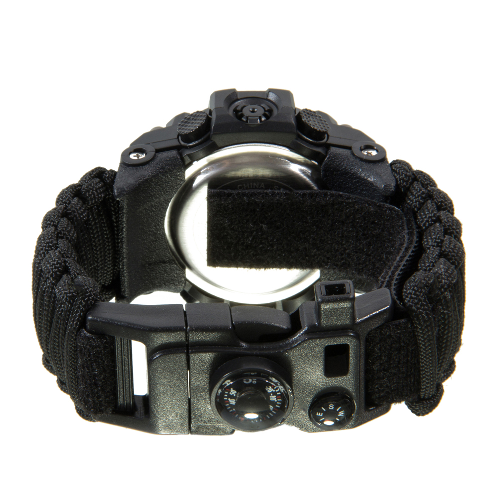 Image 4 - Multifunctional Outdoor Survival kit EDC Camping Safety Equipment  Rescue Rope Bracelet Safety Paracord Watch Compass-in Safety & Survival from Sports & Entertainment